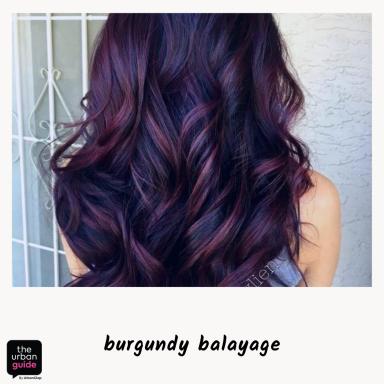 burgundy-highlights-indian-skin