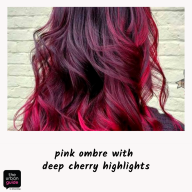 Dark-Cherry-Red-Hair-with-Bright-Pink-Ombre