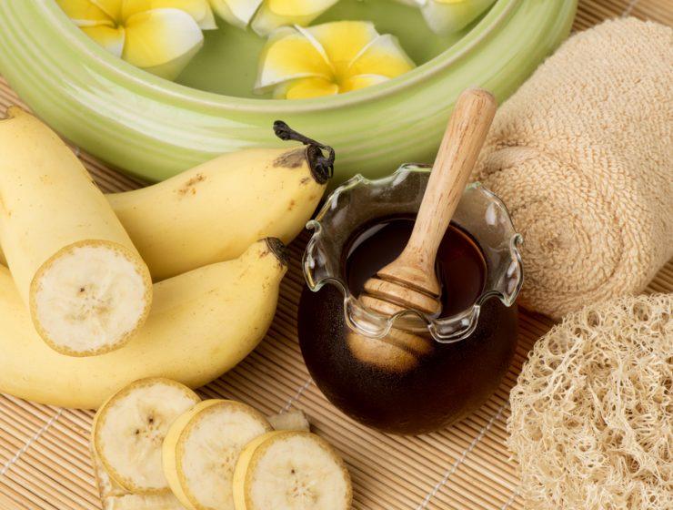 banana honey face pack