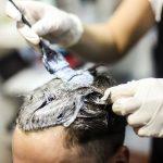 hair colouring at salon